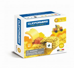 KLOCKI CLICS CLICFORMERS CRAFT SET YELLOW 25