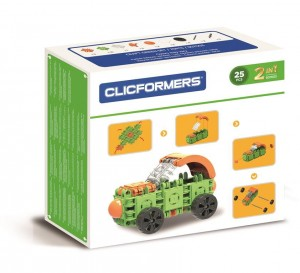 KLOCKI CLICS CLICFORMERS CRAFT SET GREEN 25