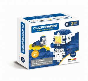 KLOCKI CLICS CLICFORMERS CRAFT SET BLUE 25